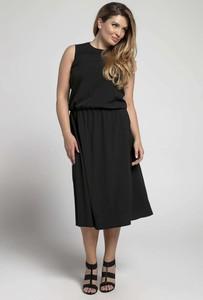 Czarna sukienka Nommo midi bez rękawów