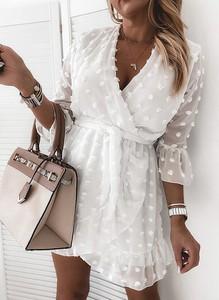 Sukienka Sandbella w stylu boho z długim rękawem