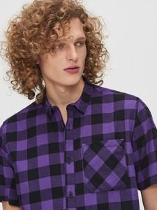 Fioletowa koszula Cropp z krótkim rękawem