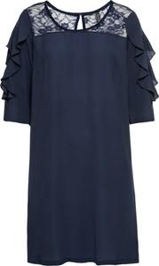 Sukienka bonprix RAINBOW z długim rękawem z dresówki w stylu casual