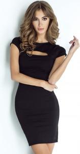 Czarna sukienka Ivon z tkaniny mini