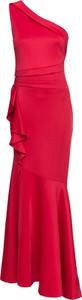 Sukienka bonprix BODYFLIRT boutique z asymetrycznym dekoltem