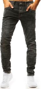 Czarne jeansy Dstreet z jeansu w stylu casual
