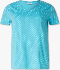 Turkusowy t-shirt YESSICA z bawełny