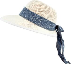 Jk collection kapelusz letni. - biały    niebieski