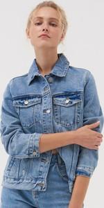 Niebieska kurtka Sinsay z jeansu w stylu casual