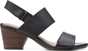 Czarne sandały Clarks ze skóry
