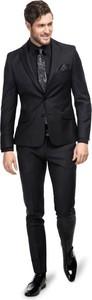 Czarny garnitur Giacomo Conti z wełny