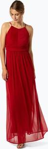 Czerwona sukienka Marie Lund bez rękawów z okrągłym dekoltem maxi