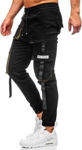Czarne spodnie Denley z bawełny