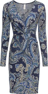 Sukienka bonprix BODYFLIRT boutique z długim rękawem midi