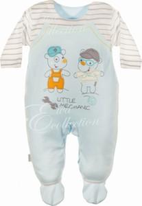 Ewa Collection Pajac niemowlęcy BARTUŚ niebieski NewYorkStyle