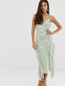 Fioletowa sukienka Asos Design na ramiączkach