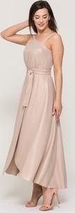 Sukienka VISSAVI bez rękawów z szyfonu