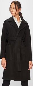 Czarny płaszcz Liu-Jo w stylu casual z wełny