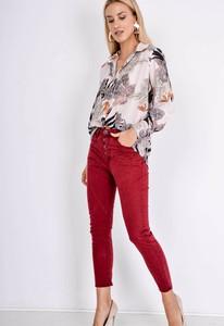 Czerwone spodnie Zoio z bawełny