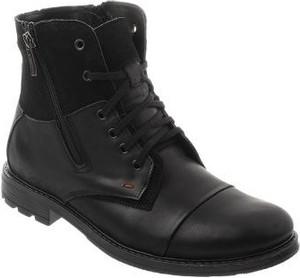 Czarne buty zimowe butyolivier.pl