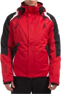 Czerwona kurtka Emporio Armani krótka w sportowym stylu