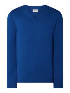 Niebieski sweter Montego z bawełny