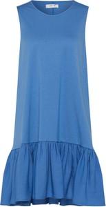 Niebieska sukienka Moss Copenhagen bez rękawów mini