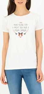 T-shirt Blutsgeschwister z okrągłym dekoltem w młodzieżowym stylu z krótkim rękawem