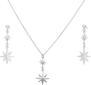 Irbis.style srebrny komplet biżuterii - kolczyki i naszyjnik