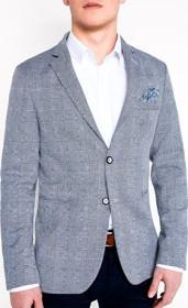 Granatowa marynarka Ombre Clothing z bawełny