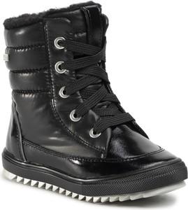 Czarne buty dziecięce zimowe Bartek
