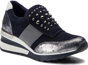 Sneakersy Quazi na koturnie z zamszu