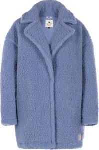 Niebieski płaszcz Alwero z wełny