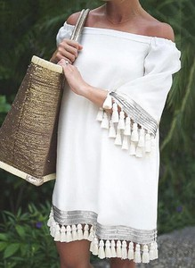 Sukienka Sandbella hiszpanka w stylu boho