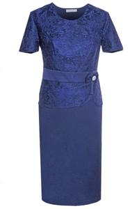 Granatowa sukienka Fokus
