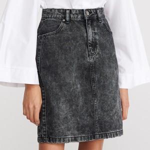 Czarna spódnica Reserved z jeansu midi