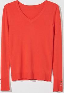 Czerwony sweter Mohito w stylu casual