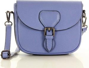 Niebieska torebka MAZZINI średnia matowa