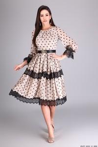 Różowa sukienka Ons Luxuria z długim rękawem