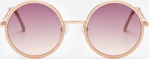 Złote okulary damskie House