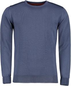 Niebieski sweter Lavard w stylu casual z wełny