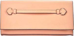 Różowa torebka Pierre Cardin mała ze skóry
