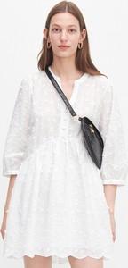 Sukienka Reserved z bawełny mini z długim rękawem