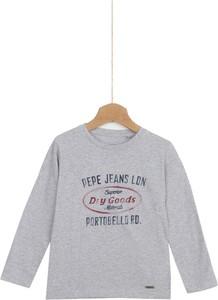 Koszulka dziecięca Pepe Jeans z długim rękawem z bawełny