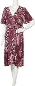 Sukienka Donna Morgan midi z dekoltem w kształcie litery v