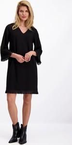Czarna sukienka Lavard w stylu boho mini