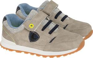 Brązowe buty sportowe dziecięce Cool Club dla chłopców z bawełny