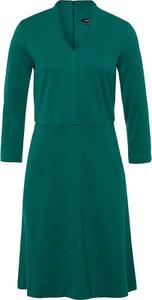 Sukienka More & More z długim rękawem z dekoltem w kształcie litery v