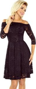 Sukienka NUMOCO z długim rękawem z odkrytymi ramionami mini