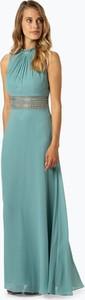 Niebieska sukienka VM w stylu boho bez rękawów maxi