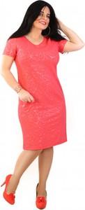 Sukienka Exclusive Line z okrągłym dekoltem z krótkim rękawem z dzianiny