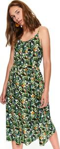 Zielona sukienka Top Secret z okrągłym dekoltem midi