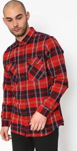 Czerwona koszula Brixton z długim rękawem